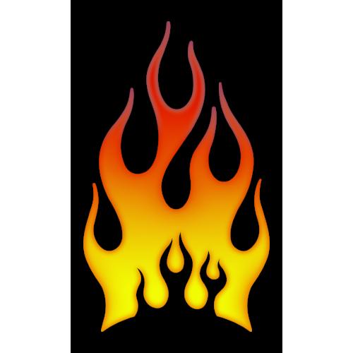 Flames stående