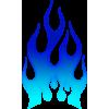 Flames blå