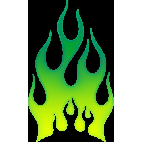Flames grön