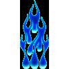 Flame drops blå