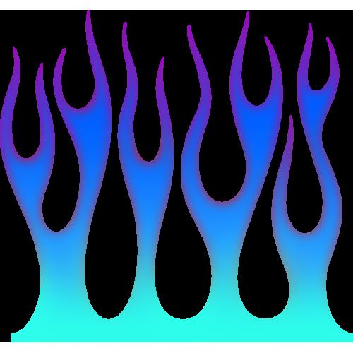 Flame wall blå