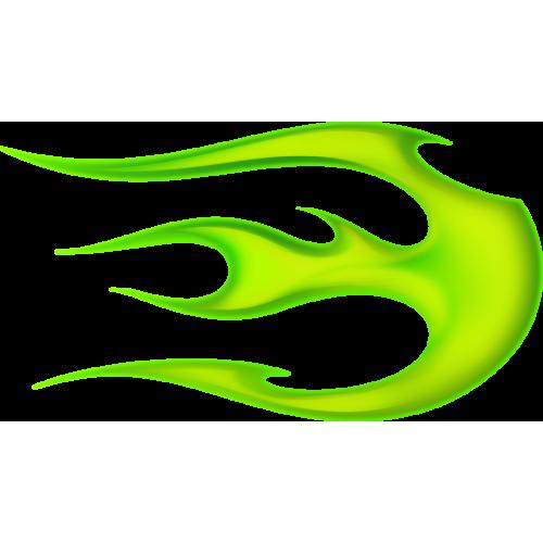 Flame ball höger grön