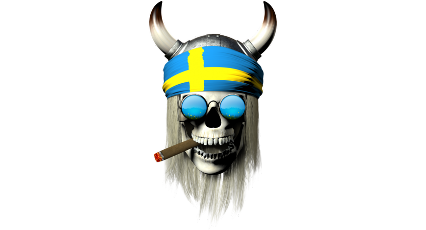 Smoking swedish skull