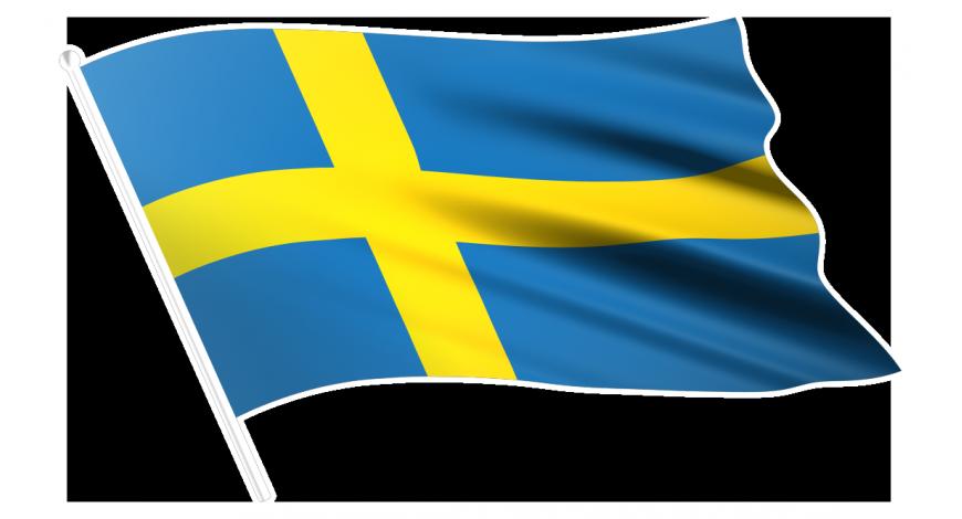 Sverigeflagga vänster