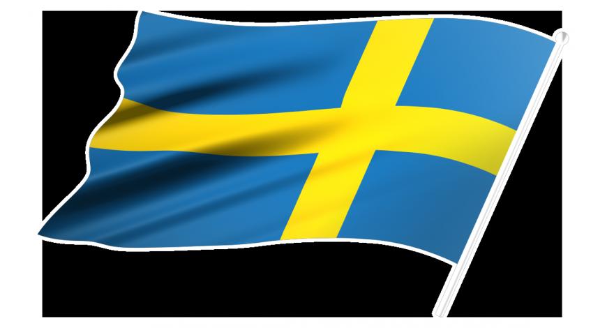 Sverigeflagga höger