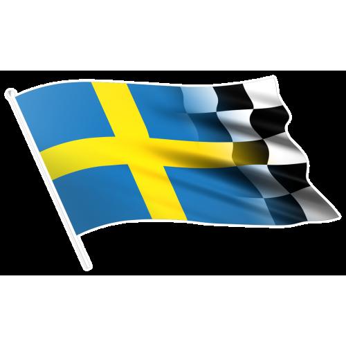 Sverigeflagga racing vänster