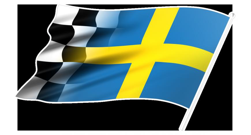 Flagga Sverigeracing right