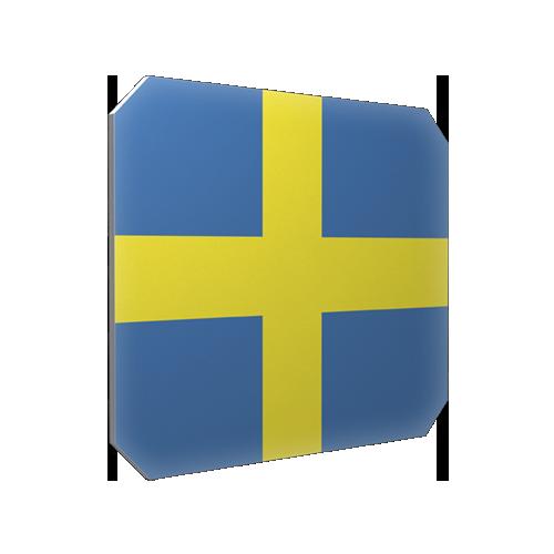 Isskrapa Sverigeflagga
